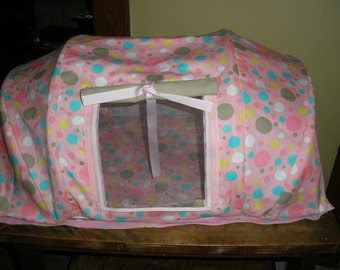 Bungalow made on order. Fits two 18 inch dolls.