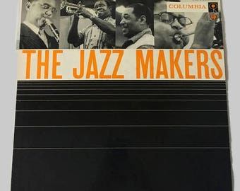 The Jazz Makers Record, Vintage Vinyl Record, Jazz Music, Dixieland Record, Swing Music Record, 1950s Vinyl Record, Album Cover, Big Band