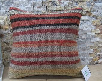 ethnic turkish pillow 14x14 outdoor pillow kilim pillow cover 14x14 bohemian pillow aztec pillow organic pillow rustic pillow code 247
