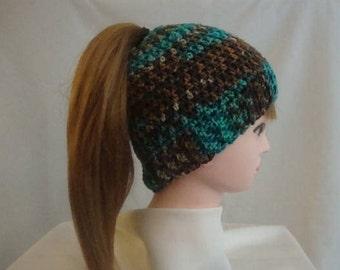Ponytail Hat - Brown Ponytail Hat - Turquoise Ponytail Hat - Messy Bun Hat - Bun Hat - Brown Messy Bun Hat - Brown Bun Hat