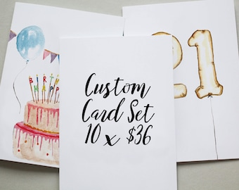 Greeting Card Box Set of 10 - Pick 10 cards of your choice