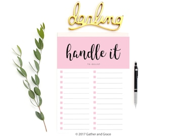 To Do List Printable, Handle It Printable, To Do List, Handle It, Printable To Do List, Checklist Printable, Planner Printable, Planner