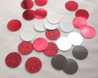 Dollhouse Miniature Supplies - 25 Mixed Silver-Pink-Red Foil Bakery Boards for Dollhouse miniature Cakes and Bakery Treats