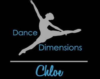 DECAL Custom Dance  Cheer Drillteam Team