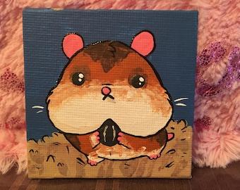 Teeny Painting - Hamster