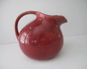 Antique Nelson McCoy Pitcher from the 1930s,  Estate Find,  Farmhouse Decor, Collectible Pottery, Made in the USA, McCoy Pottery