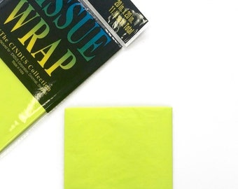 Neon Yellow Specialty Tissue Paper - 4 Sheets - Gift Wrap - Craft and Party Supplies