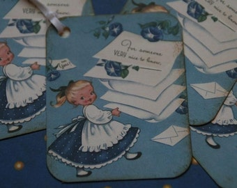 Gift Tags made from Vintage Post Card Image