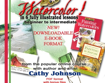 Watercolor Workshop eBook with 6 fully illustrated lessons