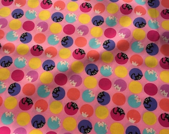 Sevenberry Cat and Pig Fabric Cotton Fabric Cat Fabric Pig Fabric Designer Fabric Patchwork Fabric Sevenberry Fabric