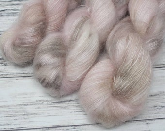 Ballet Shoes, Mohair, lace weight, Hazel base,  mohair yarn