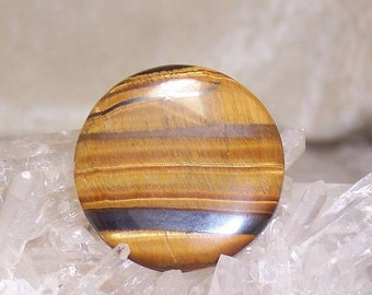 GROOVIES - Round Reversible Tiger Eye with Hematite for Wire-Wrapping