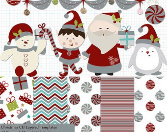 Christmas Templates , Layered Psd - Commercial Use - Instant Download