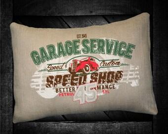 """Garage Service 12""""x16"""" Pillow Set"""