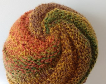 Spiral knitted hat