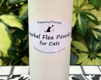 Herbal Flea Powder for Cats, natural flea control, flea treatment