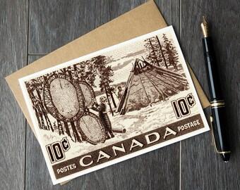 Native Canadian art, Native american art, indigenous art canada, aboriginal art cards, native art retirement card, canada history art prints