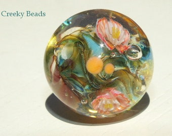 "Handmade Lampwork Focal bead - ""Pond!"" - Creeky Beads SRA"