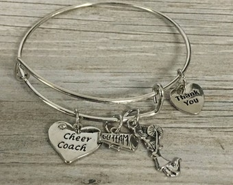 Cheer Coach Gift -Cheer Coach Bracelet, Cheerleading Coach Bracelet, Coach Jewelry – Cheer Gift - Perfect Gift for Cheerleading Coaches