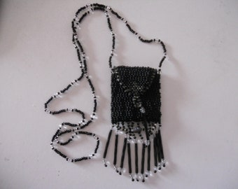 Beaded Necklace Amulet Bag