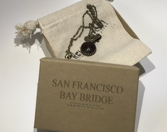 Historical Pendant made of Redwood from the San Francisco Bay Bridge