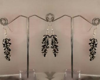 handmade drop link earrings