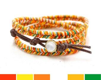 Orange Bracelet, Orange Fruit Bracelet, Summer Jewelry, Beach Bracelet, Summer Gift, Summer Bracelet, Beach Gifts for Women, Colorful Gift