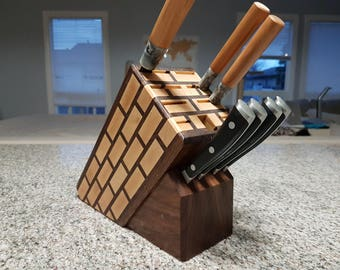 Maple Brick Knife Block