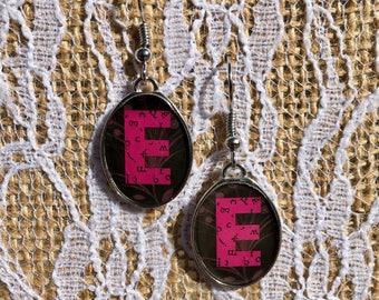 Letter E Earrings