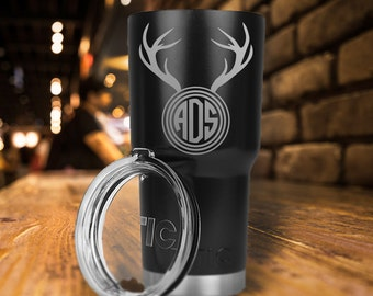 RTIC 20 oz/30 oz Tumbler/Personalized/Double Wall Stainless Steel/Buck/Deer/Hunter/Monogram/Father's Day Gift/Fast Shipping/Gift for Him