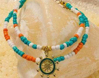 Beach Blue  Ankle Bracelet