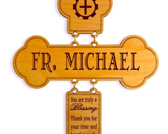 Catholic Priest Gift - Gifts for Orthodox Priest Appreciation - Gift for Monsignor - Priest Birthday Gift Idea - Cross