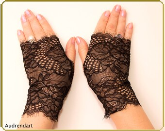 wedding gloves, black gloves, lace gloves, mesh gloves, fingerless gloves,strech lace gloves, party gloves, everyday gloves, bridal gloves