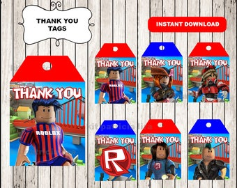 Roblox Thank you Tags instant download , Roblox Thank you Tags, Printable Roblox tags
