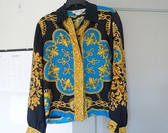 Carlisle Baroque 100% Slik Shirt Mens (S) | Womens (2) | Gianni Versace Silk