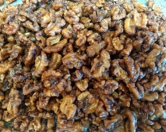 Vermont Maple Glazed Walnuts/ great snack / Maple snack/ Vermont maple syrup