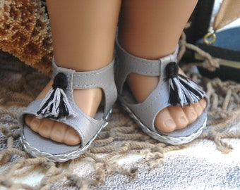 American, Made, girl, doll, sandals, doll shoes, for 18 inch doll, doll clothes