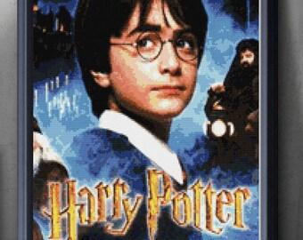 Harry Potter Cross stitch pattern modern.  Harry Potter cross stitch DPF pattern .Patrón Harry Potter punto de cruz moderno  PDF (#29)