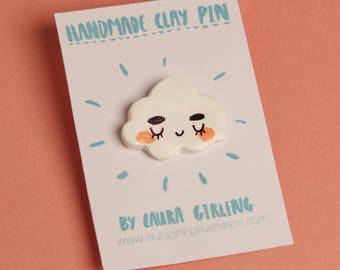 Happy Cloud Pin/Badge/Brooch
