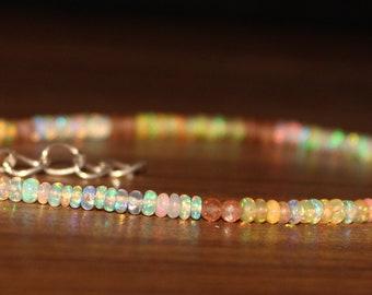 Opal Bracelet, Sunstone Bracelet, Opal & Sunstone  Bracelet, MultiStone Bracelet, Gemstone Bracelet, Wedding Jewelry, Bride Jewelry 0022