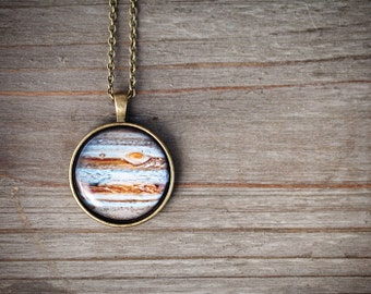 Jupiter Necklace, Celestial jewelry, Planet necklace, Solar system jewelry, Inspirational women necklace, Space jewelry, Scientist gift
