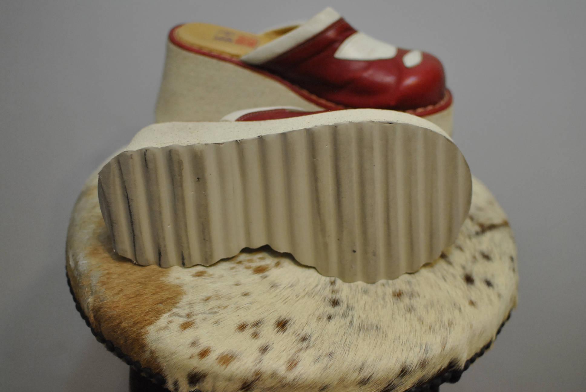 CHAUSSURES rétro vintage mamadou, sabots en femmes... cuir pour femmes... en (090) b0c0e9