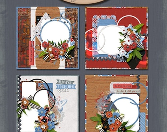 Digital Scrapbooking, Quick Page, Premade Layouts: You Make Me Crazy