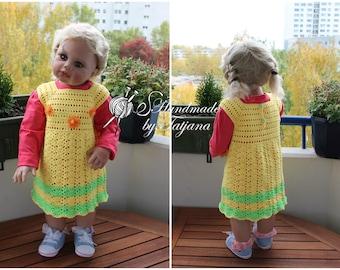 "Dress ""Sunshine"", Crochet, Gr. 74-86"