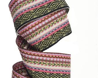 Folk Aztec Ethnic Knitted Ribbon Trim for Fashion Crafts 2 YARDS