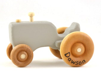 Personalized Toy Tractor - Pick Any Color - Stocking Stuffer