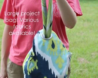 Project Bag - Large - Knitting Bag - Dumpling Bag - Wrist Purse - Knot Bag