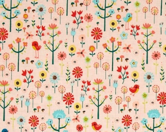 Roots and Wings  Coral Garden designed by Deena Rutter for Riley Blake Designs - Wildflower Tula