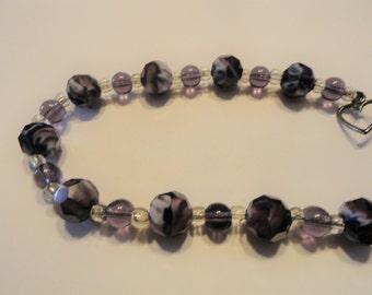 Deep Purple Beads Bracelet