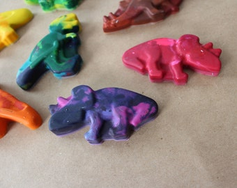 Dinosaur Crayons - Party Favor - Crayons - Valentines - Recycled - Kids Party Favors - Party - Shaped Crayons - Easter - Christmas